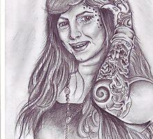portrait of a tattoo artist by mooks