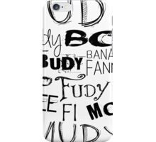 JUDY - THE name game Remake Black version iPhone Case/Skin