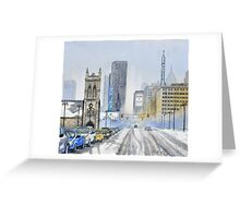 Winter on Woodward Avenue Greeting Card
