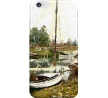 The Bridge, Wroxham, England 19th century - all products iPhone Case/Skin