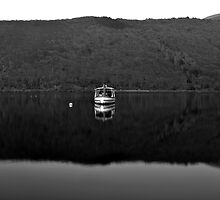 Boat on lake by nayamina