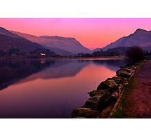 Tranquil mountain sunset Photographic Print