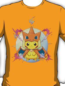Pikachu Mega Charizard Y Costume T-Shirt