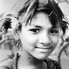 Hindu Girl Charminar by Andrew  Makowiecki