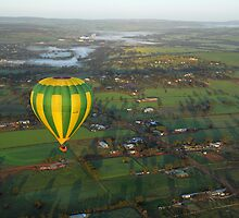 Ballooning above Northam by Peter Hodgson