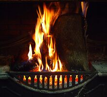 Open Fire - Wilber Farmhouse by pedroski
