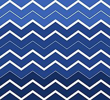 Navy Ombre Chevron ZigZag Pattern by sale