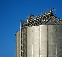 Grain Silo Against a Blue Sky by batesarch