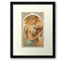 'Fruit' by Alphonse Mucha (Reproduction) Framed Print