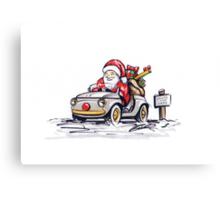 Santa's New Sleigh Canvas Print