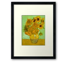 'Twelve Sunflowers' by Vincent Van Gogh (Reproduction) Framed Print