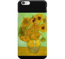 'Twelve Sunflowers' by Vincent Van Gogh (Reproduction) iPhone Case/Skin