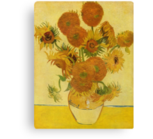 'Still Life with Sunflowers' by Vincent Van Gogh (Reproduction) Canvas Print