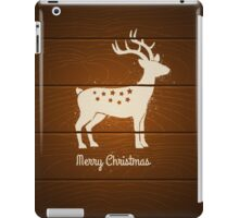 deer on wooden background iPad Case/Skin