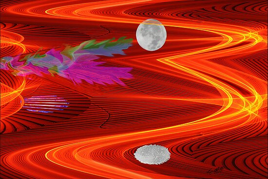 Moon Reflecting in the 7th Dimension  by Ken Fortie