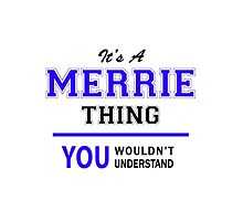 It's a MERRIE thing, you wouldn't understand !! by thenamer