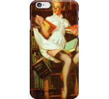 Gil Elvgren Pin Up Librarian iPhone Case/Skin
