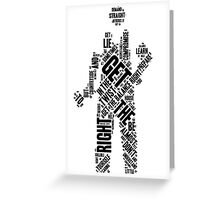 Depeche Mode : Get The Balance Right - Word Black Greeting Card