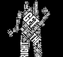 Depeche Mode : Get The Balance Right - Word White by Luc Lambert