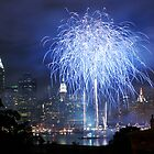 Fireworks in Blue by Marc McDonald