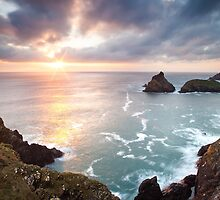 Sunset Kynance Cove by igotmeacanon