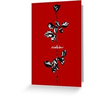 Depeche Mode : Violator Paint LP -Black & White- Greeting Card