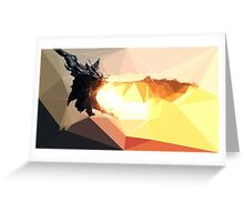 Low Poly Characters- Alduin Greeting Card