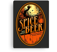 Spice Beer Label Canvas Print