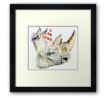 Rhino Party Framed Print