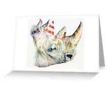 Rhino Party Greeting Card