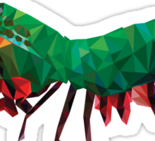 Geometric Abstract Peacock Mantis Shrimp Sticker