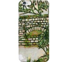 My Enhanced Pencil Drawing of Fingle Bridge - all products bar duvet iPhone Case/Skin