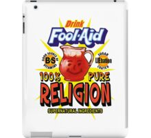Fool-Aid: 100% Pure Religion (Light background) iPad Case/Skin