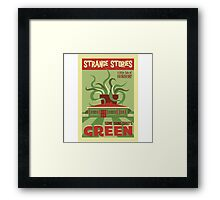 Some Thing That's Green Framed Print