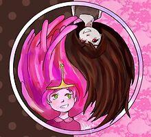Marceline and Bubblegum Yin Yang by yiamstuff