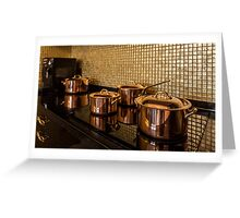 saucepans Greeting Card
