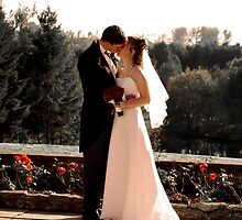 bride and groom portrait by nayamina