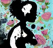Floral Silhouette by Meagan Snee
