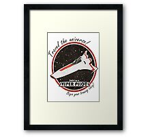 Travel The Universe!  Enlist as a Viper Pilot Today Framed Print