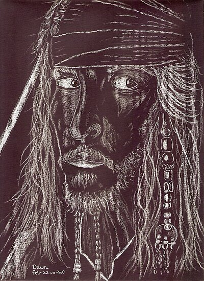 GHOST CAPTAIN, Johnny Depp by Dawn B Davies-McIninch
