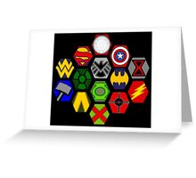 Marvel DC Comic Superhero Crossover Megaverse Greeting Card