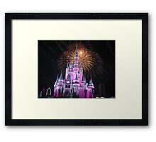 Disney Castle Disney Fireworks Disney Cinderella Disney Sleeping Beauty Framed Print