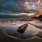 Rock Pool Sunset by manateevoyager