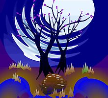 Fawn in the Moonlight by Deborah Dillehay