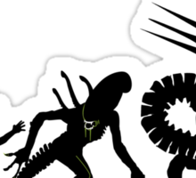 Alien Evolution (NO TEXT) Sticker
