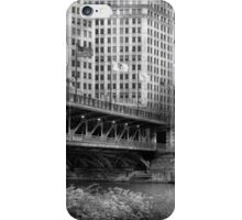 Chicago, IL - DuSable Bridge built in 1920  - BW iPhone Case/Skin