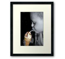 I Scream For Ice Cream! Framed Print
