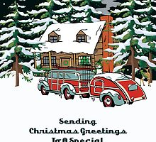 Godson Sending Christmas Greetings Card by Gear4Gearheads