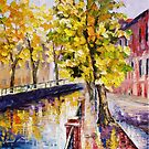 Canal And Tree — Buy Now Link - www.etsy.com/listing/215247034 by Leonid  Afremov