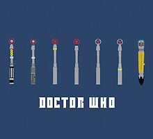 Doctor Who - Sonic Screwdrivers by GarfunkelArt